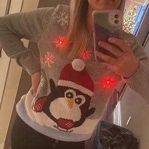 Christmas Sweater w Flashing Lights. SizeM
